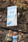 Reef Walk 2013 FoE June Normn Senator Water and Bob Irwin 12 May 2013 c-o Tony Robertson 2