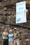 Reef Walk 2013 FoE June Normn Senator Water and Bob Irwin 12 May 2013 c-o Tony Robertson 6