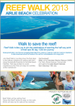 Reef Walk 2013 Airlie Beach! flier