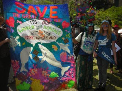 Dugong Dredging Reef Rally 2013 Brisbane - viki