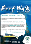 Reef Walk 2013 Flyer A5 - Port Alma